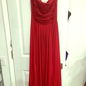 Red worn once gown size 10 Calvin Klein